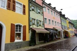 Rues colorées de Fribourg, région du Bade-Wurtemberg
