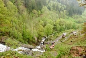 Chutes de Todtnauer par le haut, Forêt Noire