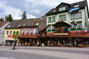 Façade de boutique à Triberg, en coucou géant, Forêt Noire