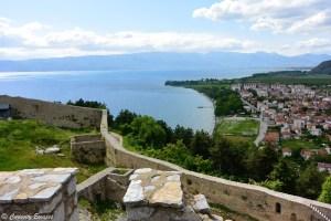 Lac Ohrid vu de la forteresse, Macédoine
