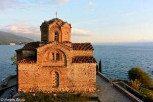 Eglise au bord du lac Ohrid, Macédoine