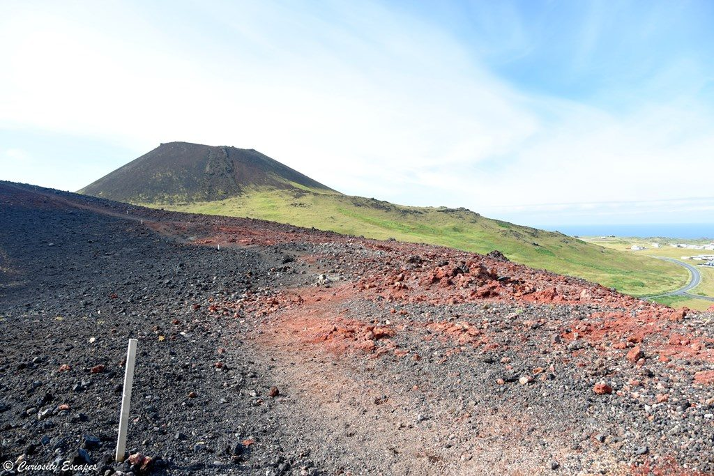 Ascension du volcan Eldfell en Islande