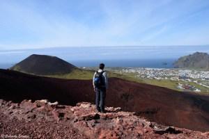 Ascension du volcan Eldfell