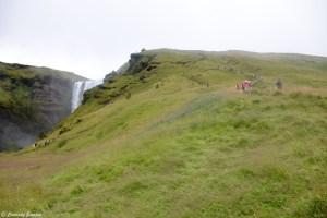 Arrivée à la cascade Skogafoss