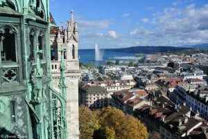 Genève, son lac Léman et son jet d'eau
