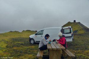 Camping sauvage dans le géopark Katla