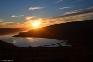 Coucher de soleil dans les fjords de l'Ouest d'Islande
