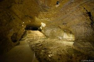 Gours dans les grottes de La Balme