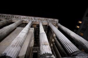 Colonnes romaines du temple d'Auguste et de Livie