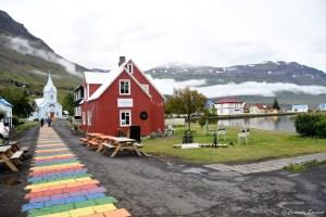 Rue colorée de Seydisfjordur