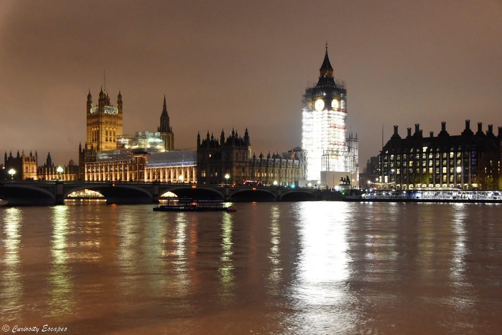 Big Ben et parlement de Westminster de nuit, Londres