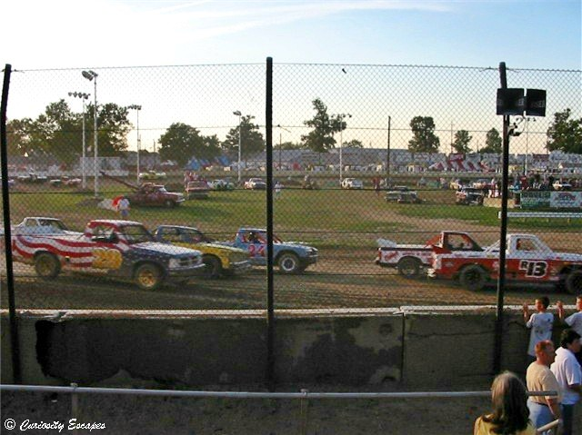 Course de Nascar dirt track aux USA
