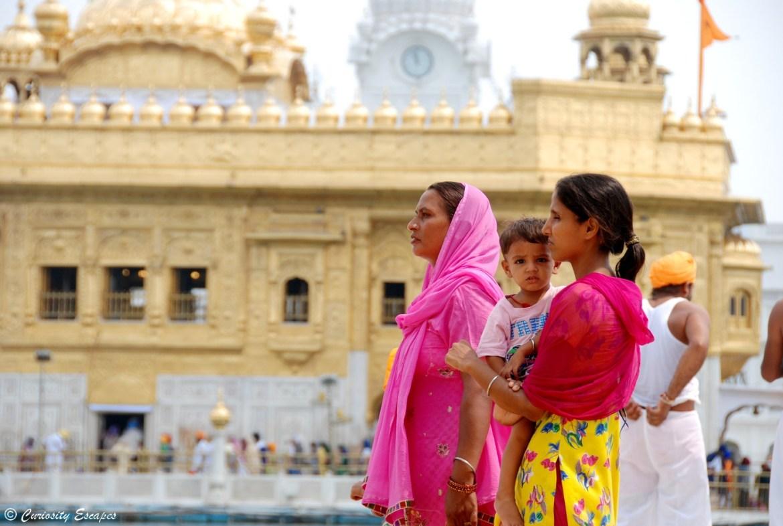 Portrait d'Inde au temple d'Amritsar