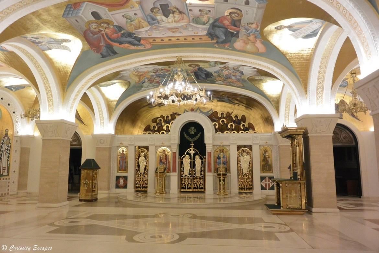 Crypte de la cathédrale St Sava, Belgrade
