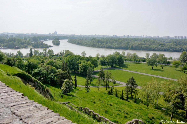 Croisement du Danube et de la Save à Belgrade