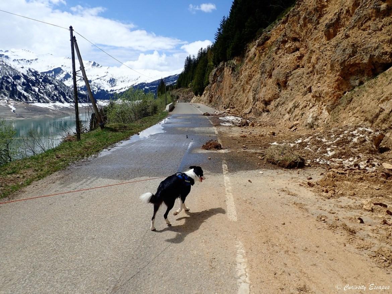 Route fermée dans le Beaufortain