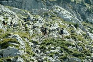 Escalade sur la randonnée de la Tournette