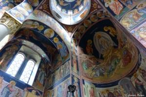 Coupoles de l'église orthodoxe St Georges de Topola, Serbie