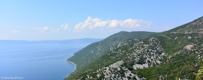 Végétation de l'île de Cres en Croatie