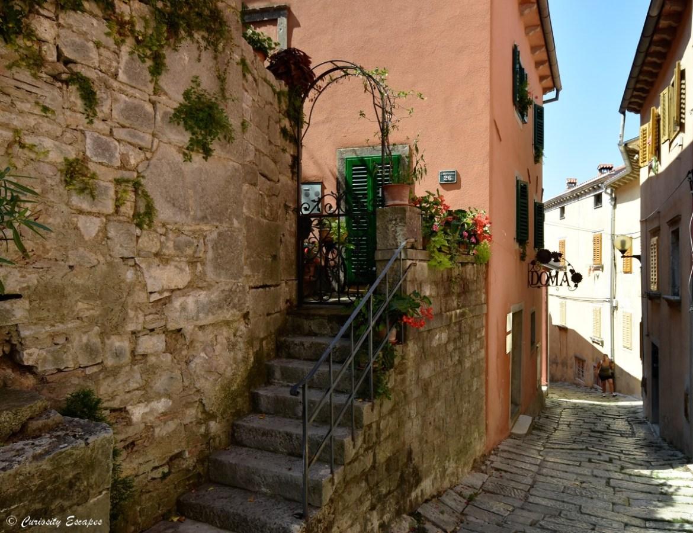 Village médiéval de Labin en Istrie croate