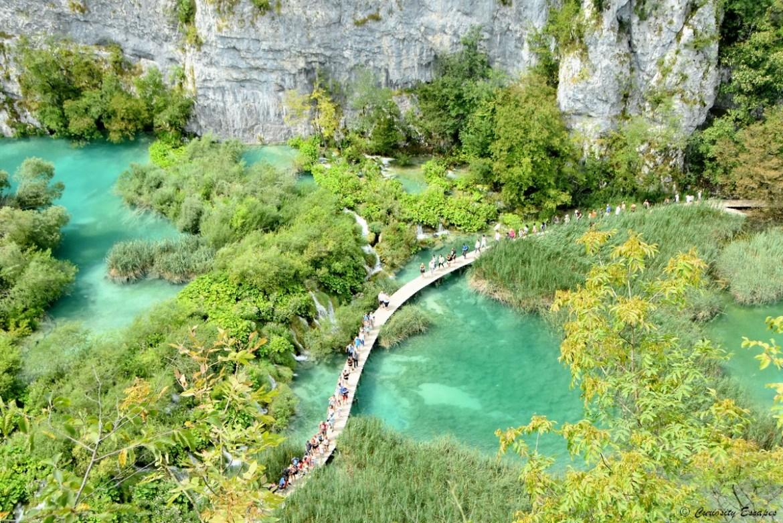 Passerelle aux lacs de Plitvice