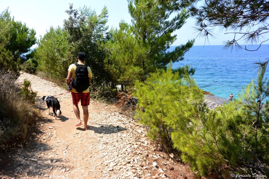 Sentier au cap Rt Kamenjak en Istrie