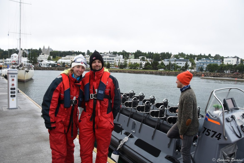Zodiac pour observation des baleines en Islande