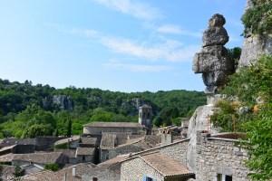 Les toits du village de Labeaume, Ardèche