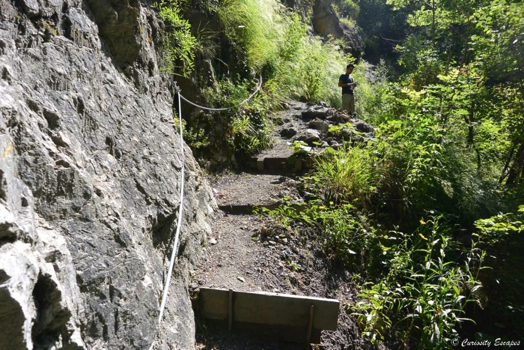 Corde sur la randonnée des gorges du Nan