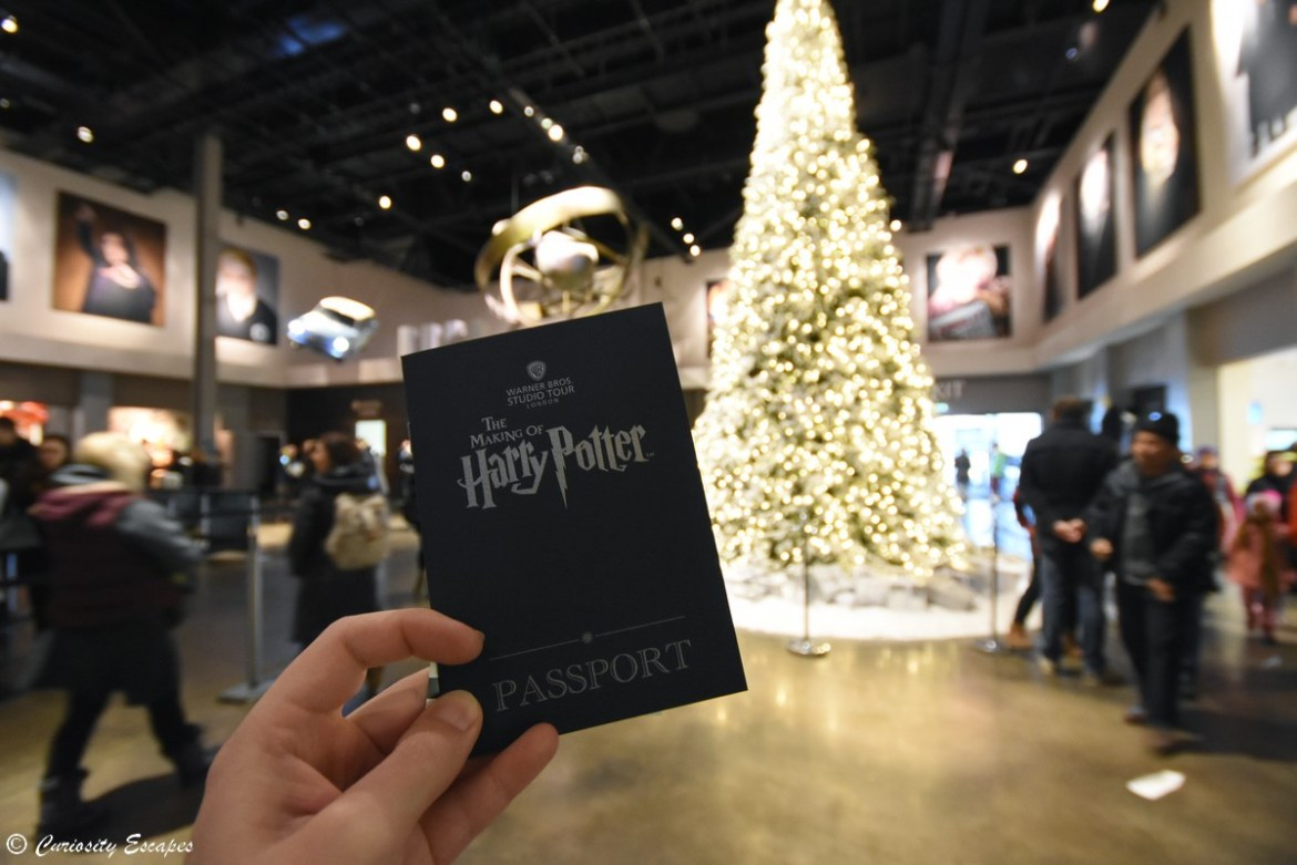 Hall des studios Harry Potter pendant Noël