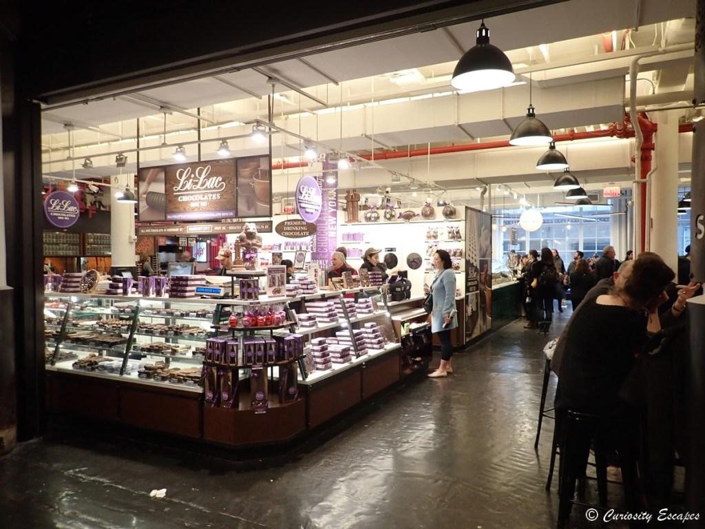 Espace restauration du Chelsea Market, New-York