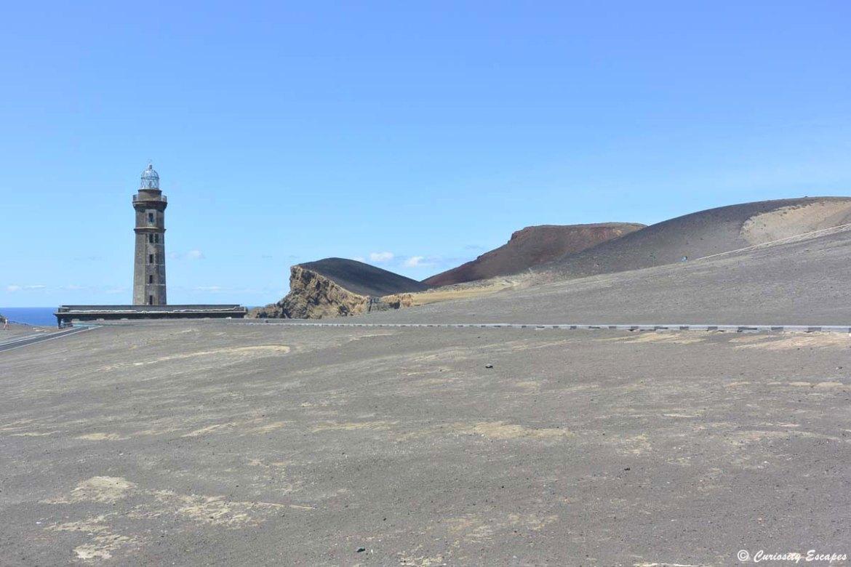 Phare du Capelinhos sur l'île de Faial