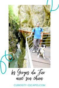 Visiter les gorges du Fier avec son chienlors d'un séjour à Annecy