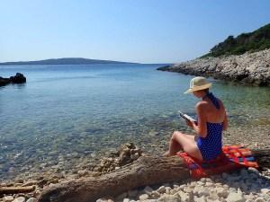 Crique sauvage de Pecina sur l'île de Losinj, Croatie