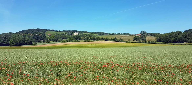 Paysages campagnards sur la voie verte, Isère