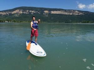 Stand up paddle à la Vallée Bleue, Isère