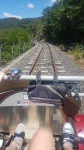 Pédales du vélorail de l'Ardèche