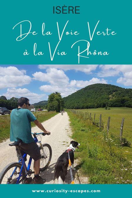 Cyclotourisme en nord Isère de la Voie Verte jusqu'à la Via Rhôna