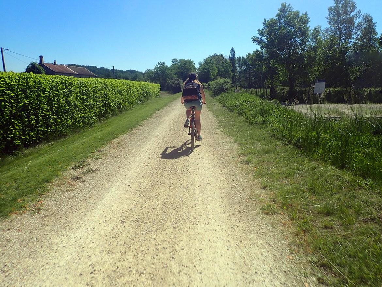 Vélo sur la voie verte en Isère