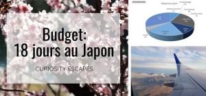 Budget total pour faire un voyage de deux semaines au Japon