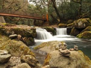 Gorges de Kikuchi dans la préfecture de Kumamoto, Japon