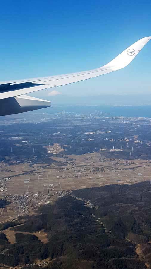 Le Mont Fuji vu depuis l'avion