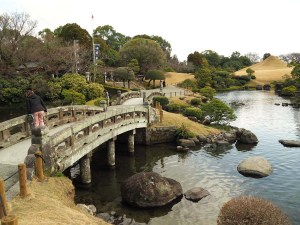 Parc de Suizenji à Kumamoto, Japon