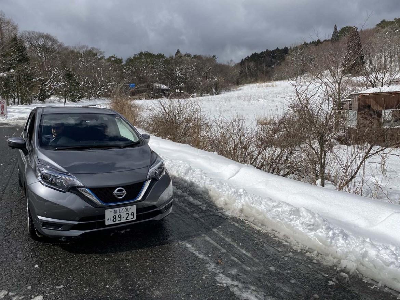 Voiture de location au Japon, dans la neige