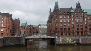 La ville de Hambourg et ses canaux, Allemagne.