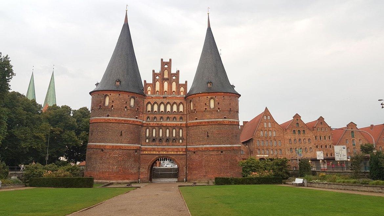 Porte de Holstein, à Lübeck en Allemagne