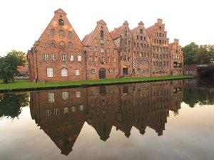 Maisons hanséatiques de Lübeck en Allemagne.