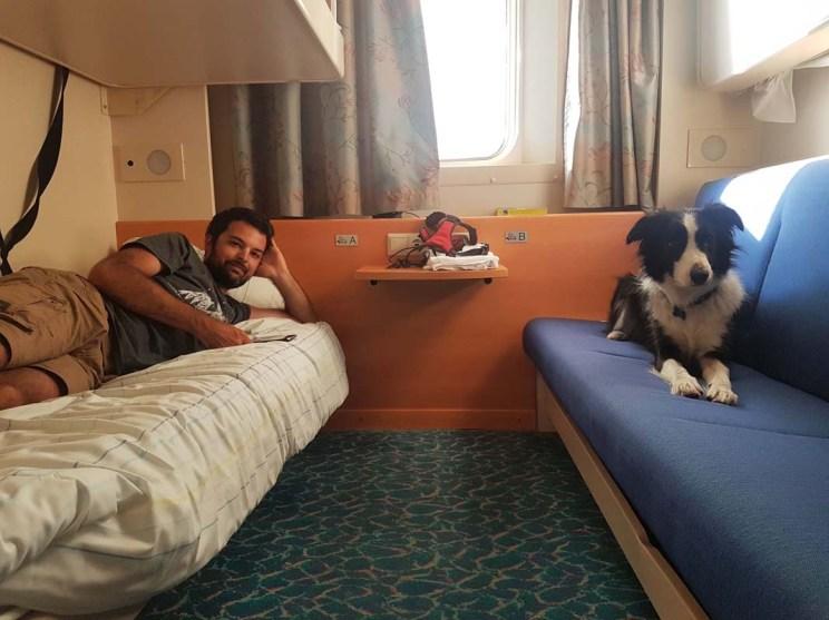 Prendre le ferry de nuit avec son chien