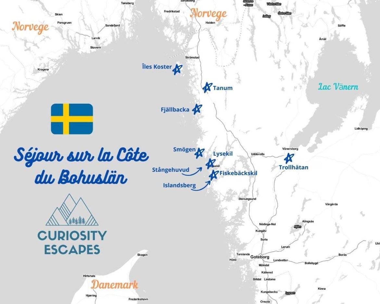 Itinéraire d'un road trip sur la côte du Bohuslän, Suède