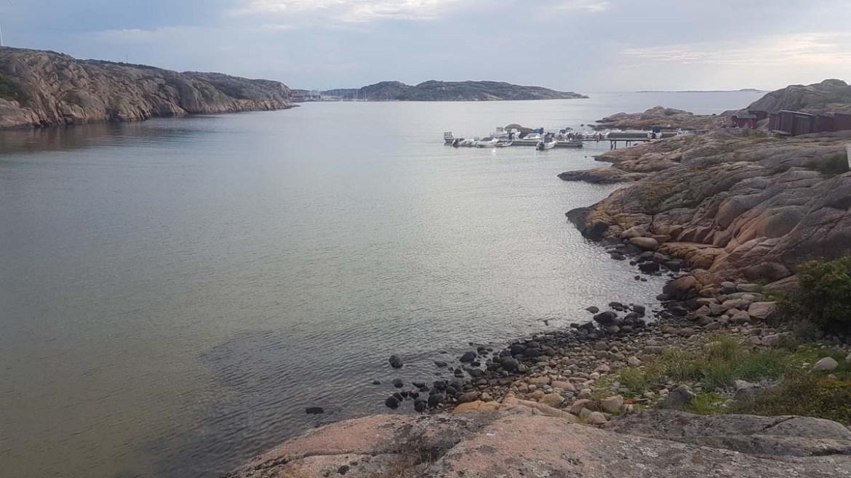 Plage privée du camping Siviks dans le Bohuslän, Suède